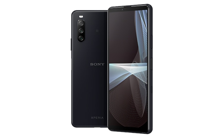 Xperia 10 III front and back in black