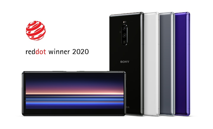 Xperia 1 awarded Red Dot Award for product design 2020