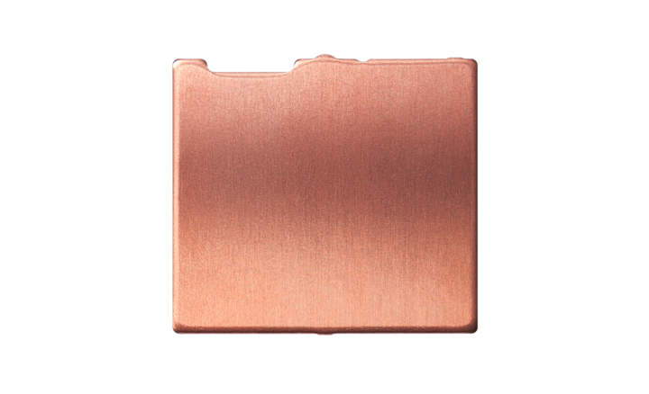 Copper block before milling