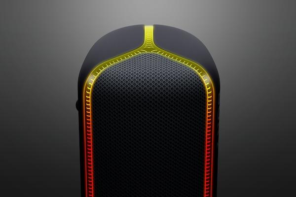 Detail of line light on SRS-XB32 speaker