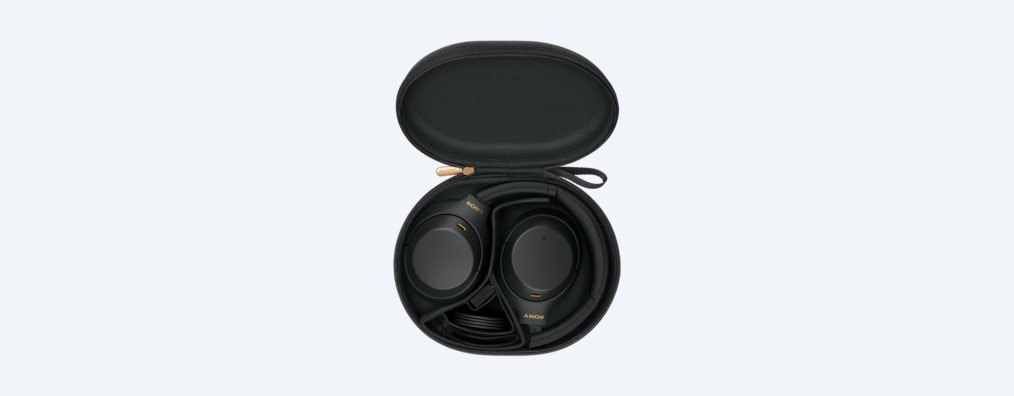 WH-1000XM4 headphones black in carry case
