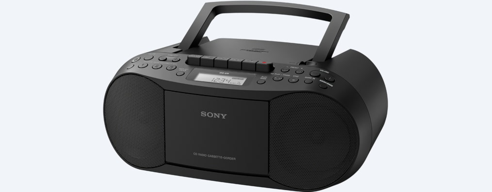 Images of CD/Cassette Boombox with Radio