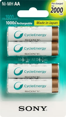 Images of Multi-Use Premium Rechargeable Batteries (AA or AAA)