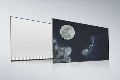 Edge type LCD back panel and screen