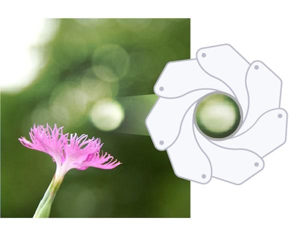 Circular aperture for smooth bokeh