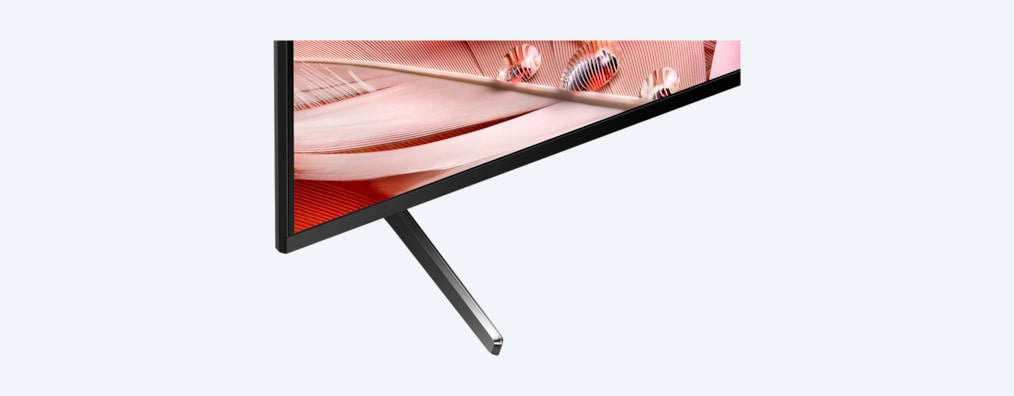 X90J BRAVIA XR TV close up of stand