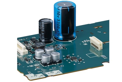 The PCM-D10's capacitor on circuit board