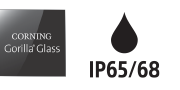 Corning Gorilla Glass & IP65/68 logos
