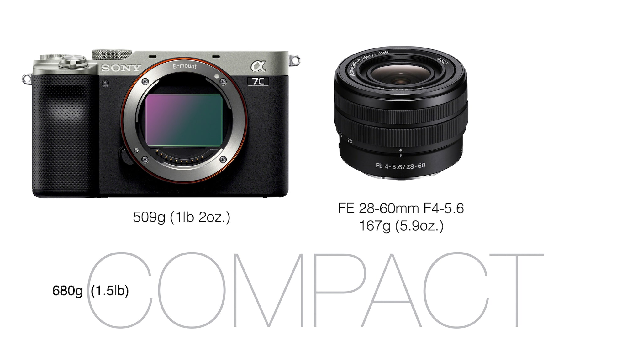 Alpha 7C and FE 28-60mm F4-5.6 lens