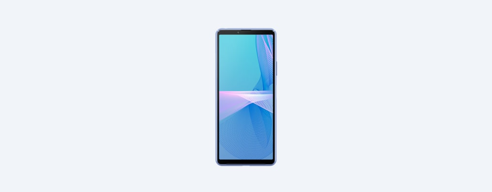 Xperia 10 III in blue, front view