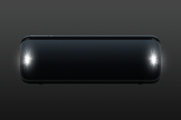 Image of flashing strobe on SRS-XB32 speaker
