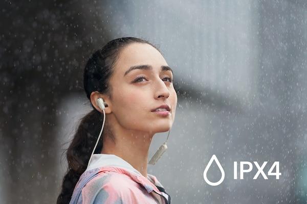 IPX4 splash and sweat proof rating