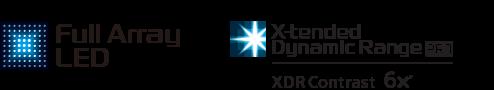 Full Array LED & X-tended Dynamic Range logos