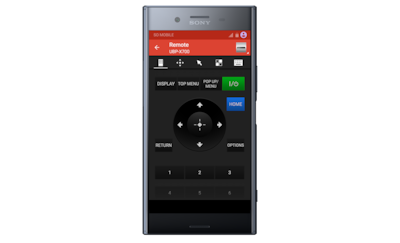 Video and TV SideView app interface on an Xperia smartphone