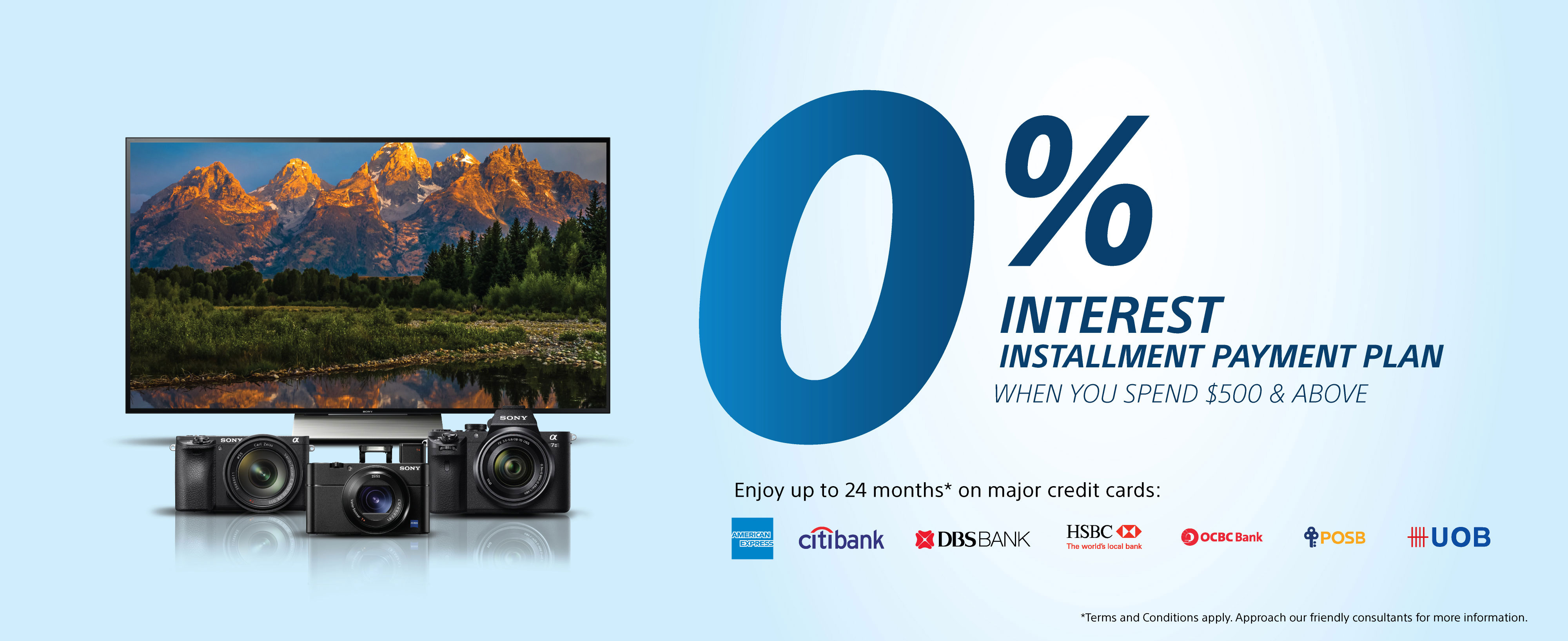 0% Interest Installment Payment Plan when you spend $500 and above.